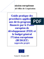 Guide Pratique Devis Programme FED 2009