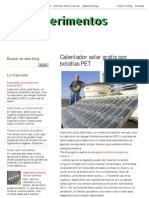 Ecoexperimentos or Solar Gratis Con Botellas PET