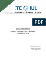 Trabalho escrito Cidadania Política e Administrativa - Soraia Galamba