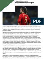 a Puyol Scende in Campo Per Fabregas _ CalcioLine