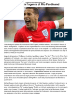 Inghilterra_ Parla l'agente di Rio Ferdinand _ CalcioLine