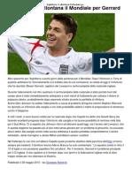 a Si Allontana Il Mondiale Per Gerrard _ CalcioLine