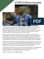 Inter_ Balotelli Per Tevez, Lo Scambio Impossibile _ CalcioLine