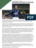 Inter_ Javier Zanetti Felice, Alle Porte Un Triennale _ CalcioLine