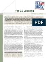 The Case for GE Labeling