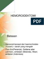 HEMOROIDEKTOMIe