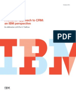 Frost & Sullivan and IBM. a Smarter Approach to CRM