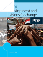 Public Protest and Visions for Change