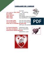 lamour - saint valentin