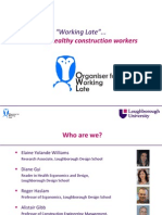Ergonomics and Human Factors 2012 International Conference - Elaine Yolande Williams Presentation