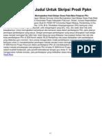 Contoh Proposal Judul Untuk Skripsi Prodi Ppkn