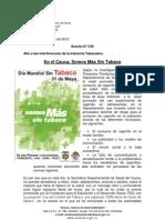 Boletín 040 En el Cauca, Somos Más Sin Tabaco
