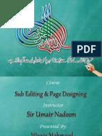 Waqas-Sub-Editing & Page Designing