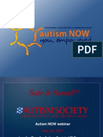 The Autism Society of America Webinar with Autism NOW May 29, 2012