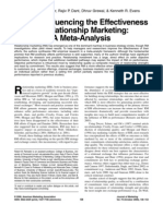 Factors Influencing the Effectiveness of Relationship Marketing