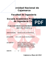Informe1_Parametros Geomorf Cuenca