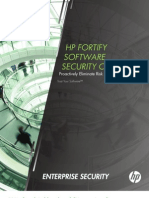 Fortify Software Security Center Datasheet