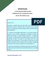 BIOGRAFIA DE LOS APOSTOLES