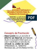 Prestaciones Sociales y Rehab Para El Trabajo.