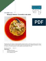 Newquay Harbour Coronation Crab Salad