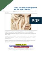 Britney Spears Exigencias Para Ser Jurado de TheXFactor