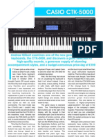Casio CTK-5000 in-Depth Review - Keyboard Player Magazine Dec 2008 (Issue 0331) r000629