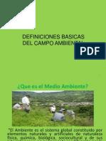 Definiciones Basicas Del Campo Ambiental