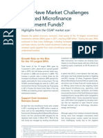 How Have Market Challenges Affected Microfinance Investment Funds?