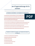 Programme d'Apprentissage de La Science