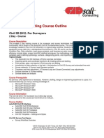 CADsoft Consulting Course Outline - Civil 3D 2012 for Surveyors
