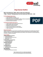 CADsoft Consulting Course Outline - Revit Architecture 2012 Site and Structural Design