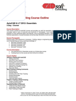 CADsoft Consutling Course Outline - AutoCAD & LT 2012 Essentials