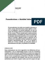 Posmodernismo e Identidad a