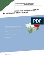 Gratis Report Geld Verdienen Sofortanleitung Ohne Homepage