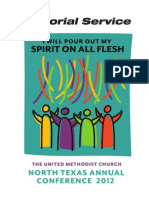 North Texas Churches - Annual Conference Memorial Service June 5, 2012