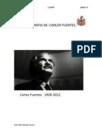 LA BIOGRAFIA de Carlos Fuentes Final
