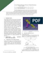 Simulative Calculation and Optimal Design of Scissor Lift Mechanism