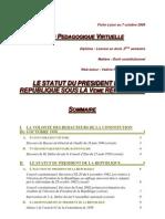 le_statut_du_president_de_la_republique