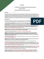 Cluster Methods in SAS