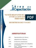 1. LO MAR RELEVANTE DE ANTIEVASION II Y DE LA ACTUALIZACIÓN TRIBUTARIA MATERIAL(1)