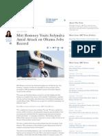 Mitt Romney Visits Solyndra, Highlights Obama's Failure