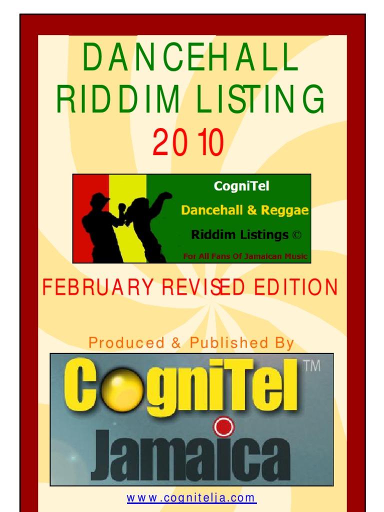 Dancehall Riddim Listing