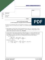 Physics 2 (MT) - Quiz 1a - Solution