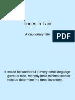 Tones in Tani