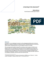 e-learning in the Classroom?