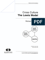 Cross Culture the Lewis Model