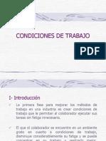 Métodos de Trabajo - 3 Condiciones y Medio Ambiente