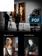 COMPARACIÓN ADAN Y EVA DE DURERO Y BALDUNG