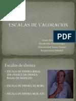 ESCALAS DE VALORACIÓN