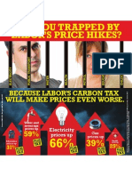 Impact of Labor's Carbon Tax on already skyrocketing living costs.